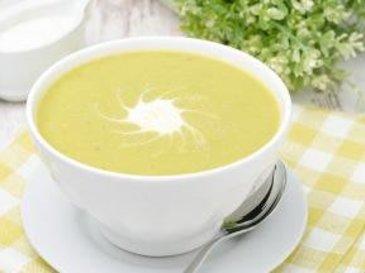 Рецепт: Суп-пюре из цветной капусты и кабачков