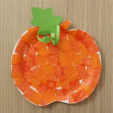 """Make """"The Pumpkin"""" applique with your kid"""