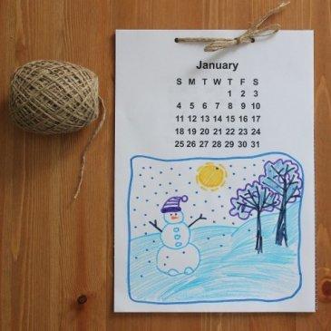 Сделайте вместе с ребенком календарь