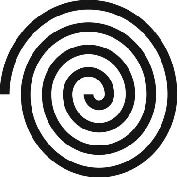 Contrasting spirals