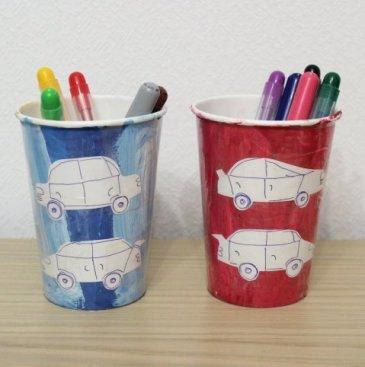 Multi-colored cups