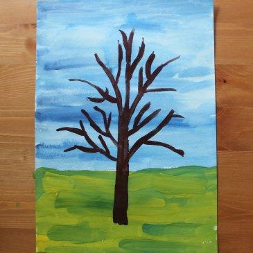 Нарисуйте вместе с ребенком цветущую вишню