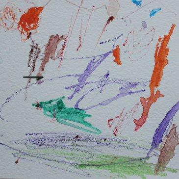 Порисуйте акварельными карандашами (мокрый способ)