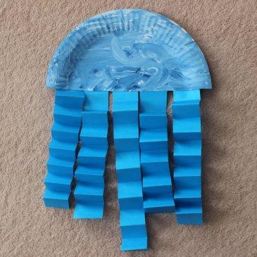 Сделайте медузу из бумаги