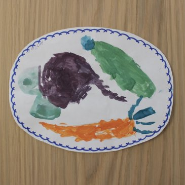 "Paint with your kid the still life ""The Fruits on a Plate"""