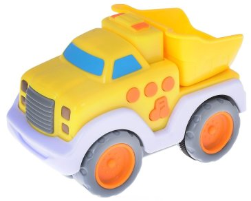 A toy battery-powered car