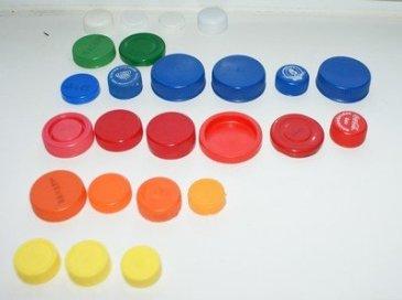 Sorting plastic caps
