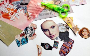 Making appliques out of old magazines