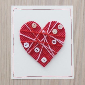 A Valentine card with buttons