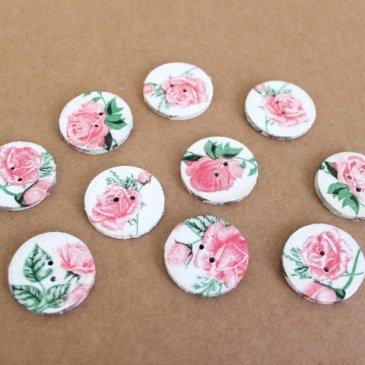 Decoupage buttons