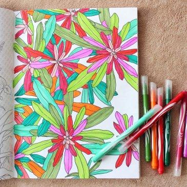 Anti-stress coloring books