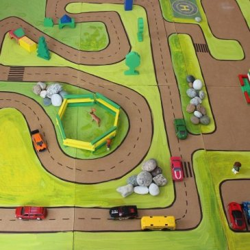 Make a racetrack for your kid