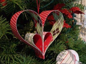 """Christmas tree toys """"Hearts"""""""