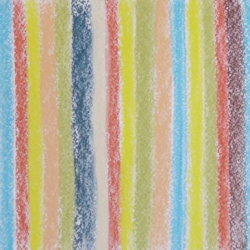 Draw a striped blanket with pastels