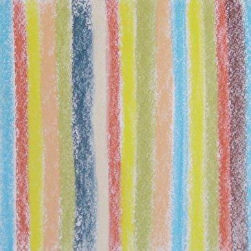 Полосатое одеяло в технике пастели