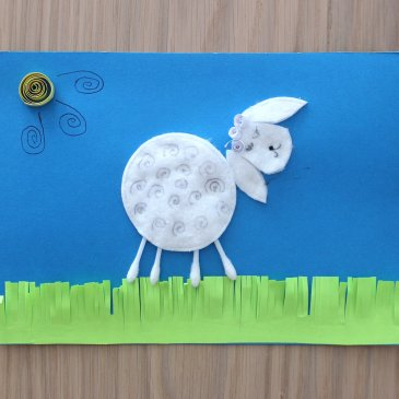 "Applique ""The Lamb"""