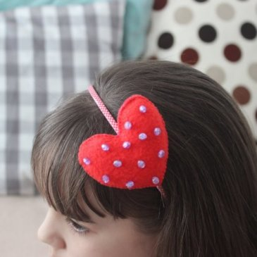 Headband with a heart