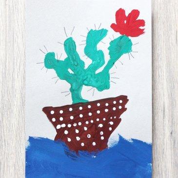 Нарисуйте кактус