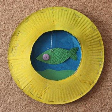 Аквариум из картонных тарелок