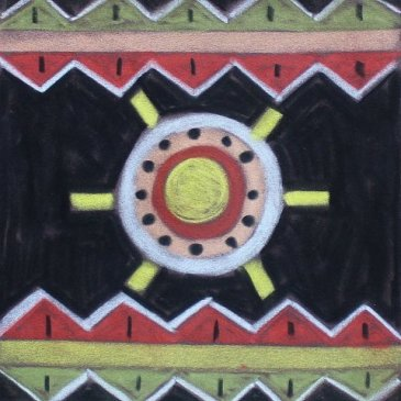 Draw African patterns with your kid using pastels