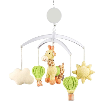 Hang a baby mobile above your newborn's bed