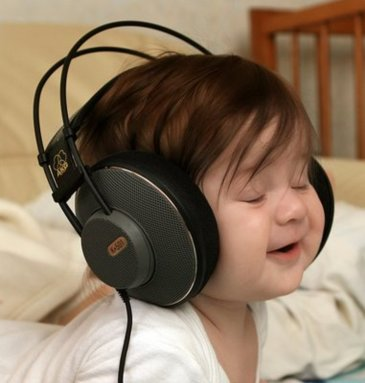 Offer your baby to listen to music