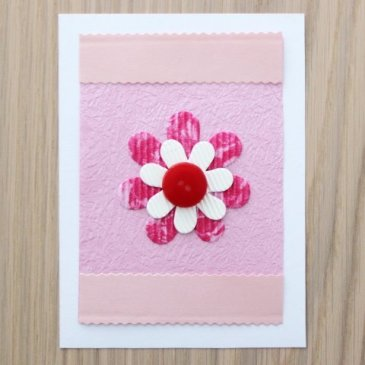 A card with a flower