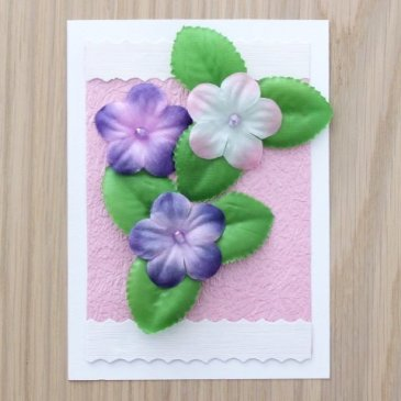 "Greeting card ""Spring Flowers"""