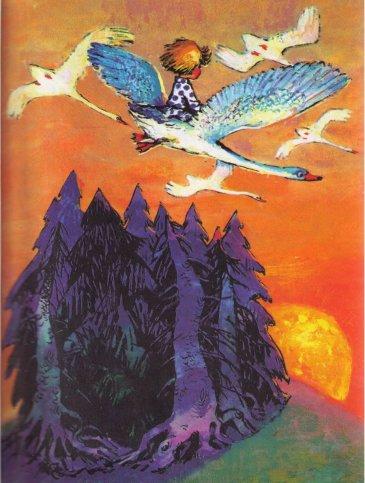 """Прочитайте малышу сказку """"Гуси-лебеди"""""""