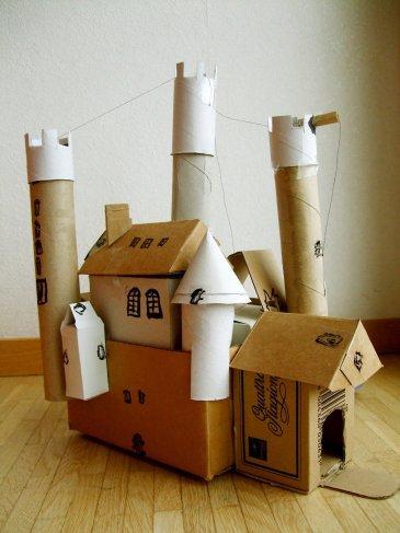 Крепость из коробок