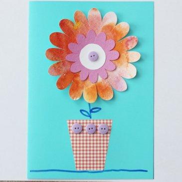 Открытка с цветочком
