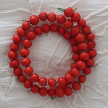 Make a bracelet out of rowanberries with your kid