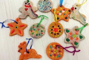 Christmas clay pendants