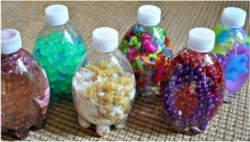 Make a toy out of a bottle