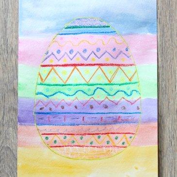 Нарисуйте пасхальную открытку