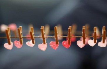 Гирлянда из сердечек