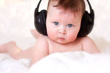 Listen to the tape recorder with your baby