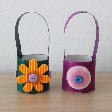 Корзиночки для пасхальных яиц с цветочками