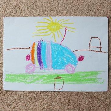 Нарисуйте вместе с ребенком машинку