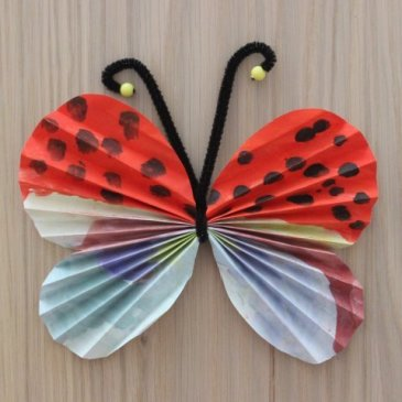 Make butterflies out of paper and wire with your kid