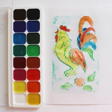 Предложите ребенку порисовать, используя различные рельефы
