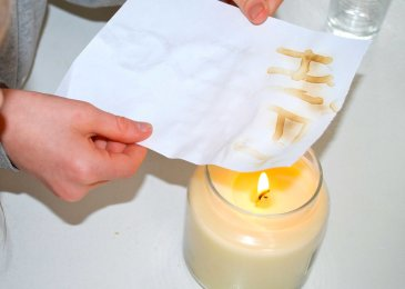 Show your kid how to write a letter with invisible ink!