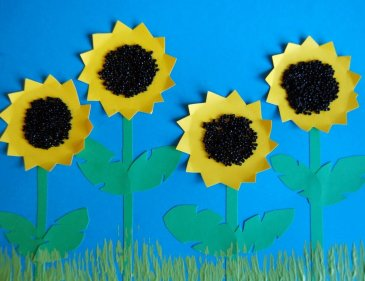 "Make the craft ""The Sunflower"" with your kid"