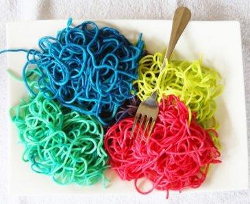 Цветные спагетти