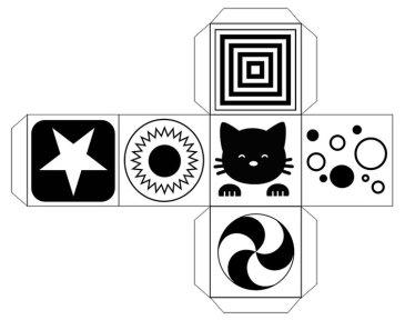 Черно-белый кубик