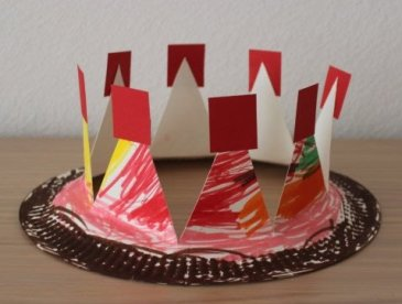 The crown of disposable plate