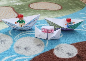 Make origami crafts!