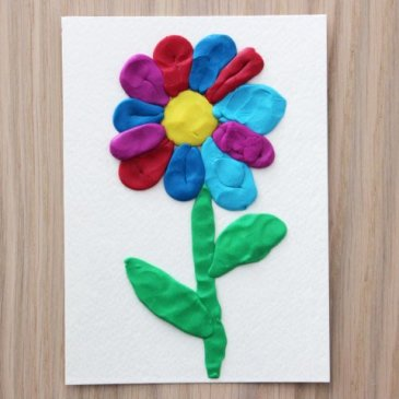 "Plasticine applique ""The Flower"""