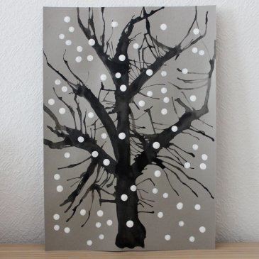 Рисуем зимнее дерево