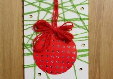 Make a Christmas Ornament Card using Woll!